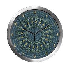 Silver Gull Mandala Clock Modern Wall Clock