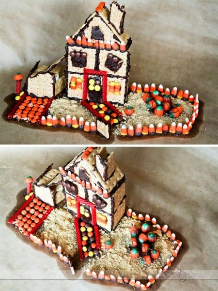 Haunted Gingerbread Houses. What a fun Halloween tradition!