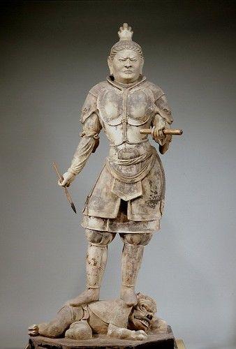 "Japanese National Treasure, One of The Four Devas named ""Kohmoku-Ten ""  広目天(東大寺戒壇院)"