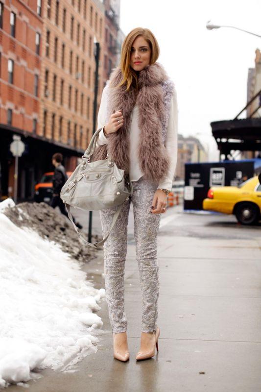 10 Ways To Wear A Fur Vest | Fashion Inspiration Blog