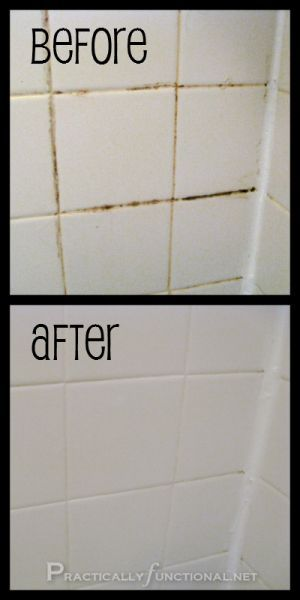Learn how to clean your dirty, dingy grout with this simple homemade grout cleaner! All you need is baking soda and bleach!--must try this