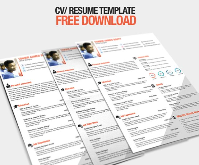 82 best Resume Templates \/ Plantillas images on Pinterest Free - psd resume templates