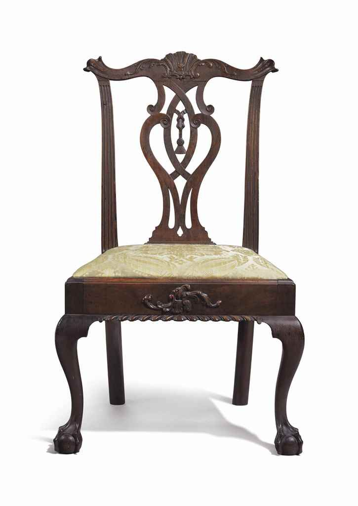 C1770 Chippendale Side Chair, , Phila, PA, Prov Parrish Family, 40t