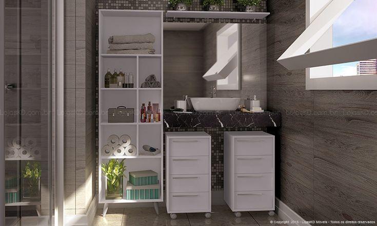 Banheiro moderno. Clique na imagem para saber mais.