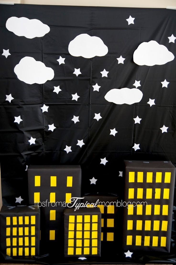 Printable airplane party backdrops party decorations diy template - Superhero Girl Birthday Party Ideas And Free Printables