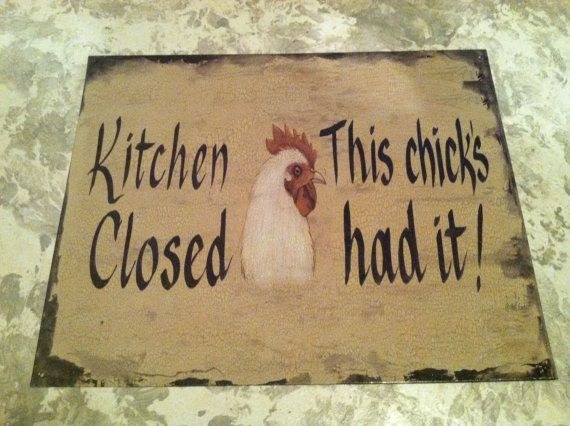 Vintage Rooster Kitchen Home Decor Tin Picture Sign by 4evrVintage, $25.99