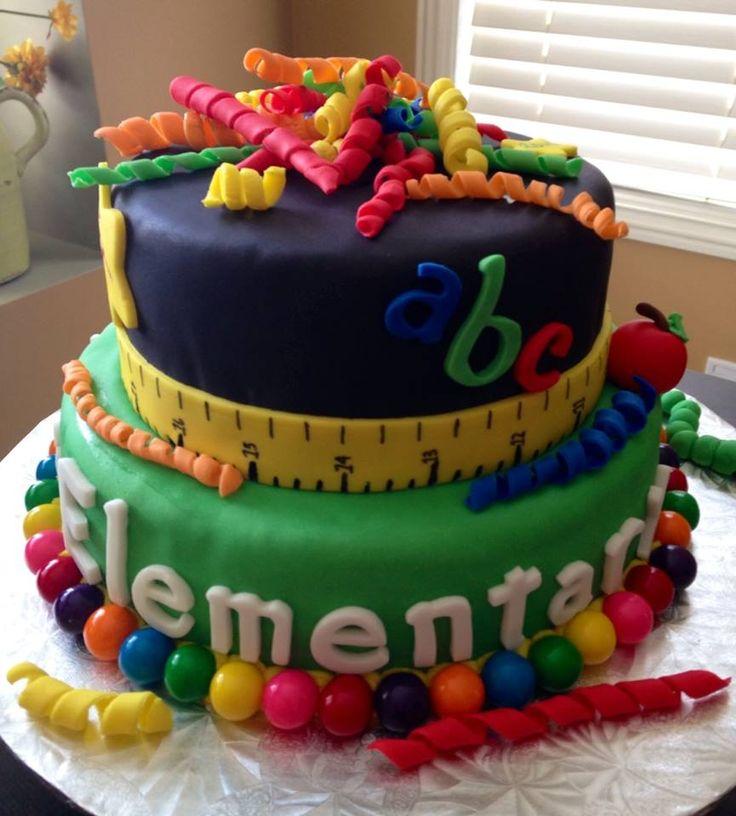 Elementary School Teacher Cake Made For My Graduation By