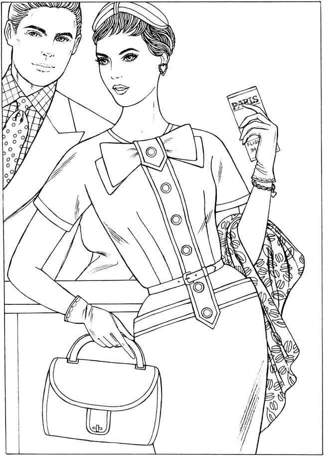 Fabulous Fashions of the 1950s Creative Haven Coloring Book By: Ming-Ju Sun. Welcome to Dover Publications