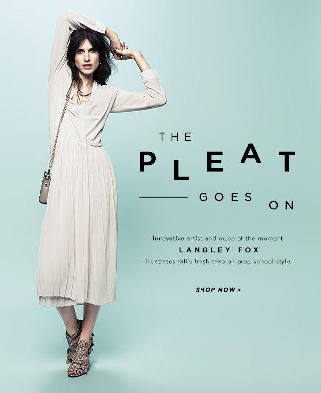 The Pleat Goes On | rebecca minkoff email graphic