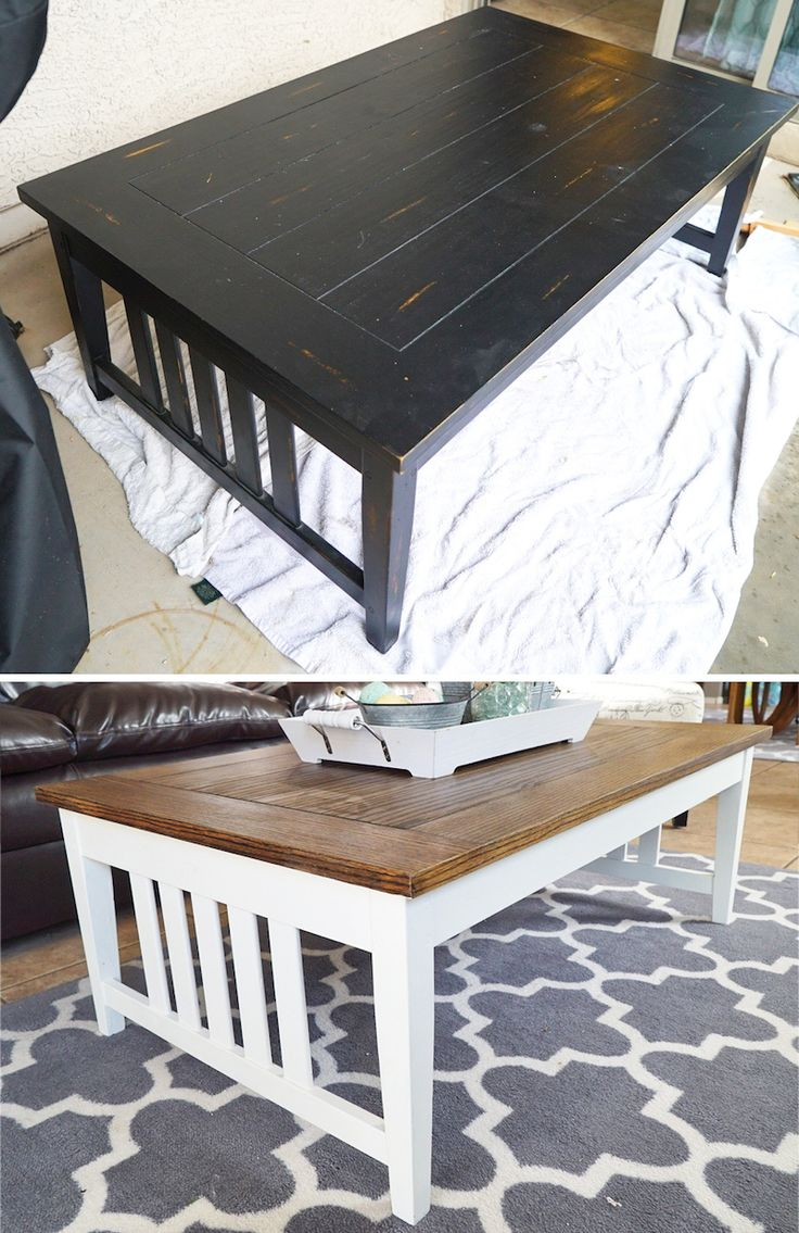 Refinishing wood furniture with stain and chalk paint | DIY project | Easy | Cheap | White Dove Benjamin Moore | Chalk Paint | Annie Sloan | Wax | Waxing | Polyurethane | White and Wood | Farmhouse Style | Farmhouse Decor | Before and After | Weekend Project | Inexpensive | Furniture Upgrade