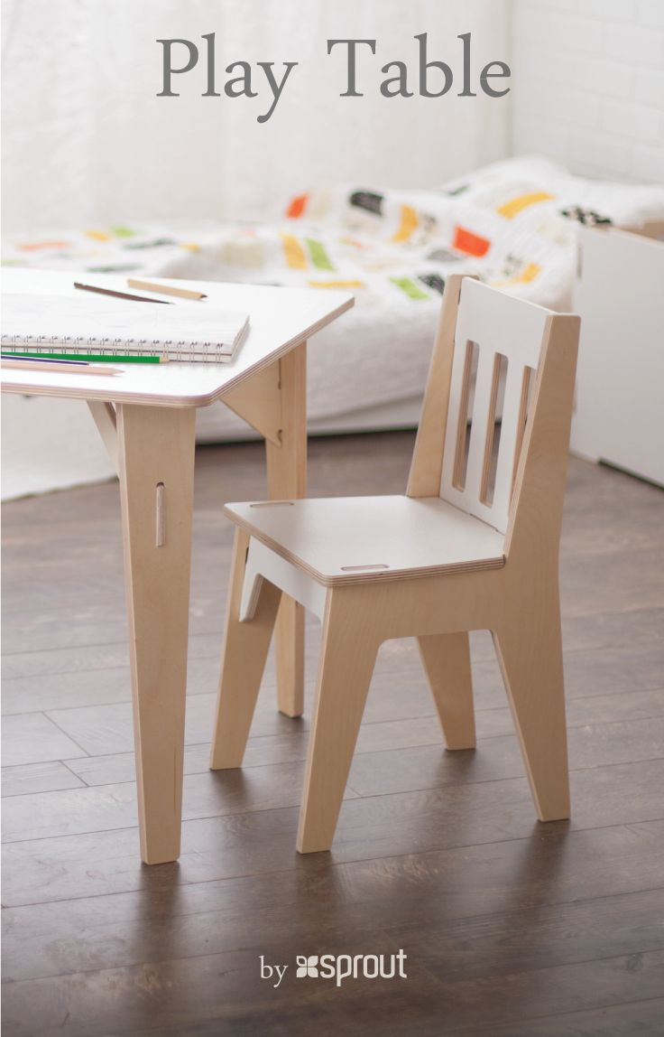 Wooden kids table and chairs are the perfect place for home work, story time, projects, and so much more. Sprout's children table and chairs are perfect for kids ages 3-8, and are strong enough for parents to sit and play with their child.  Learn more about the kids wooden table and chairs at Sprout.