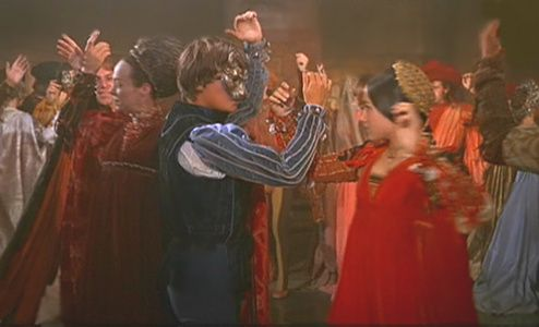 the scene where romeo and juliet meet at dance