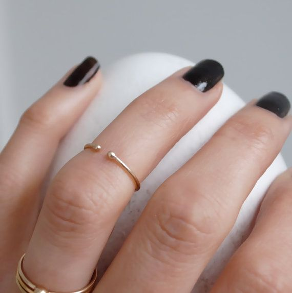 14k solid gold above the knuckle ring / toe ring  by ChristinaEcco, £32.00
