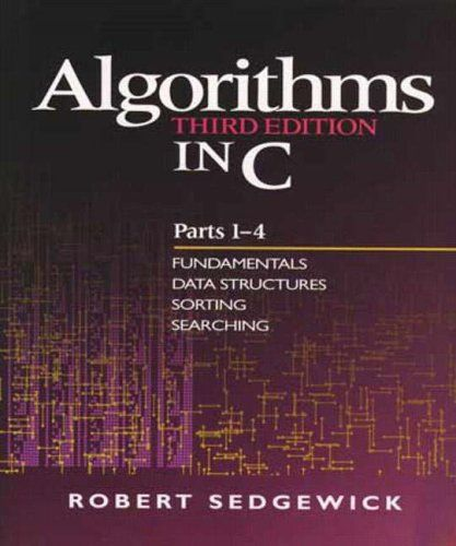 algorithms in c parts 1 4 fundamentals data structures sorting