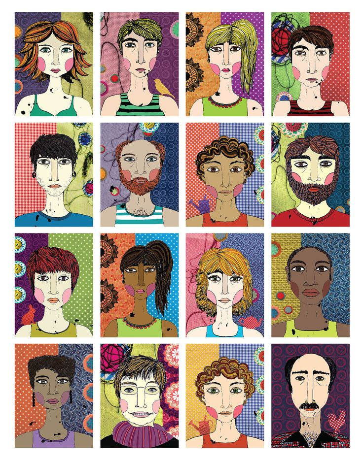 FACES - POSTER ILLUSTRATIONS on Behance