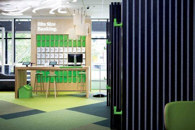 Kiwibank   Architecture Now Edge stools by Tim Webber, Design by Designworks (NZ)