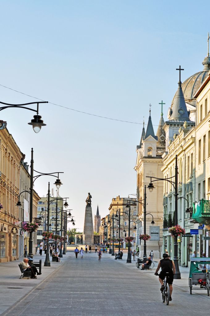 Piotrkowska Street Is the Most Famous Street in Lodz, Poland www.HostelRocket.com