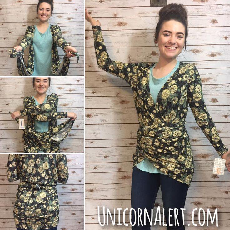 How to wear LuLaRoe Sarah Cardigan as a wrap  #LuLaRoe #UnicornAlert #LoveLaughterAndFashionablyEverAfter  www.GetUpAndGROE.com Join our VIP Customer Group >>> www.UnicornAlert.com