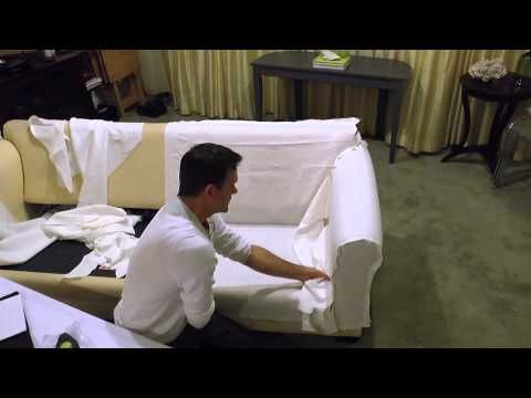 How to Slipcover a Wingback Chair - YouTube