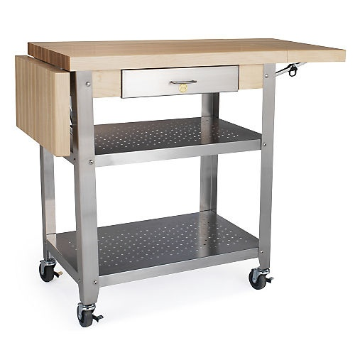 Rolling Kitchen Cart | John Boos Rolling Kitchen Cart With Shelf Open Kitchen Space