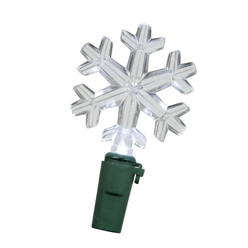 50 Light White LED Snowflake Light Set