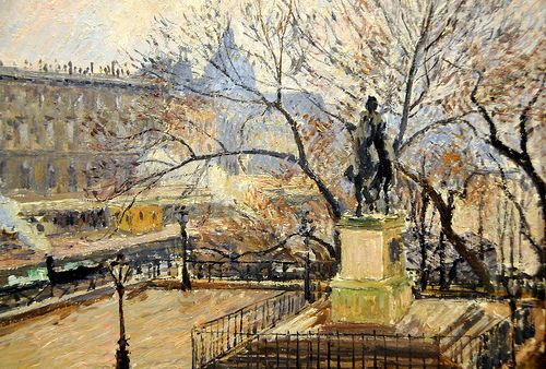 Camille Pissarro - View of Pont-Neuf with Statue of Henri IV, 1901