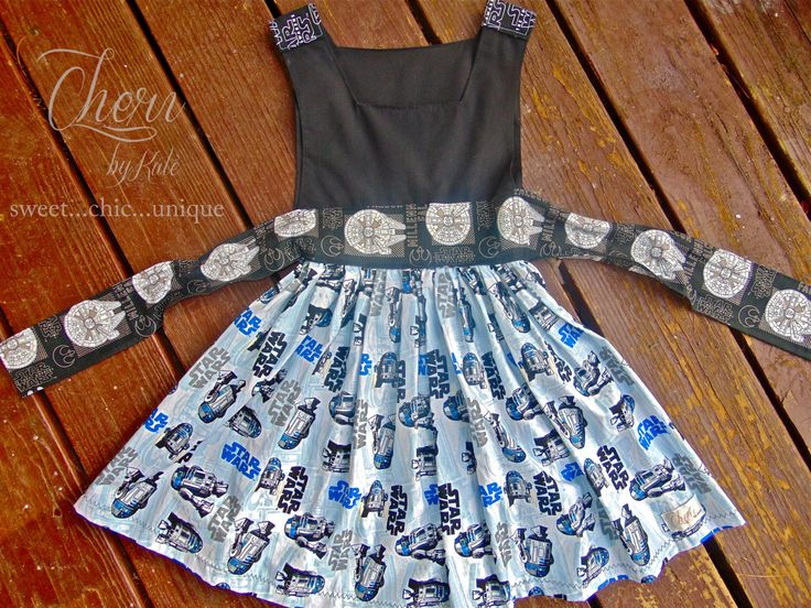 star wars kids boutique dress r2d2 size 6 girls dress handmade dress party dress birthday. Black Bedroom Furniture Sets. Home Design Ideas