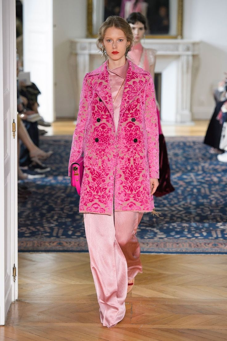 Pretty in PINK!   Some of the beautiful, bright and elegant designs from Valentino's latest collection at Paris Fashion Week. ...