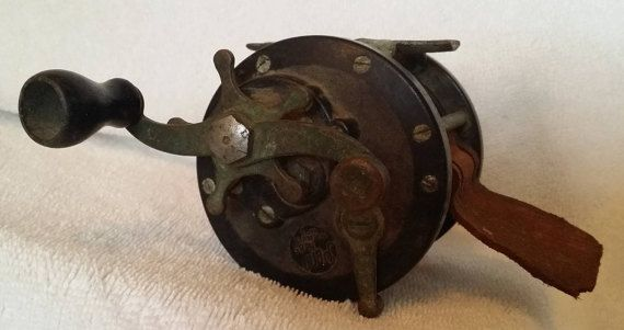 Penn Fishing reels Pair of Vintage 1940s by JerrysVintageDepot