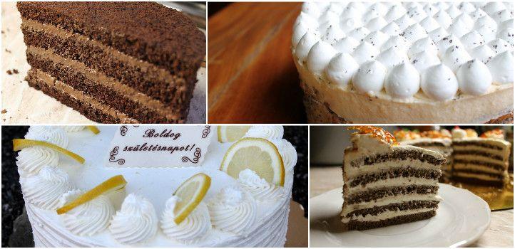Szülinapi torták házilag. Öt különböző recept