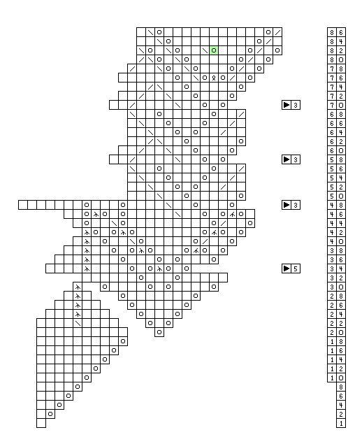 Knitting chart for Egeblad