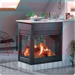 see through fireplace I see this and see so many ideas!