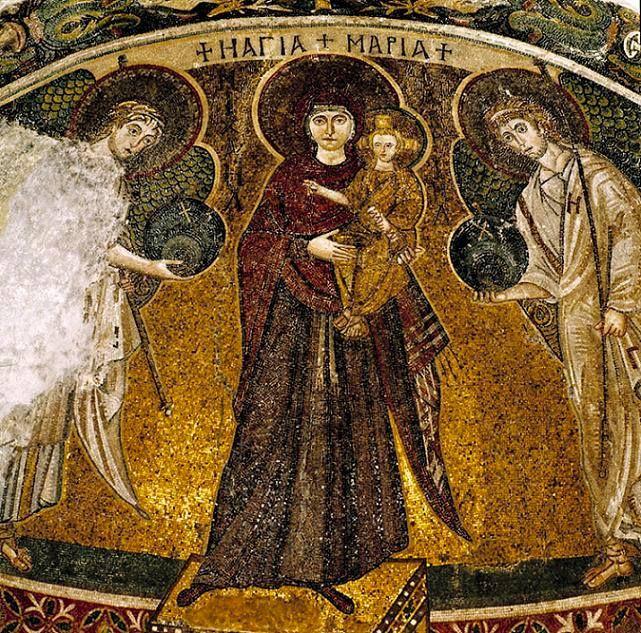 Icoana Maicii Domnului Angeloktisti-Biserica Angeloktisti,Cipru.
