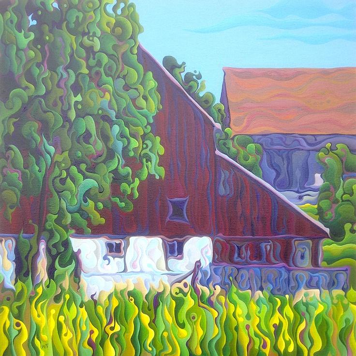 Barn Sided  24 x 24  Acrylic on Canvas