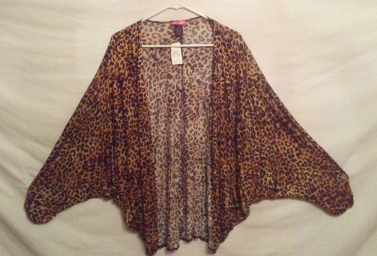 NWT Womens Size XL Body Central Leopard Print Shrug #BodyCentral #Shrug