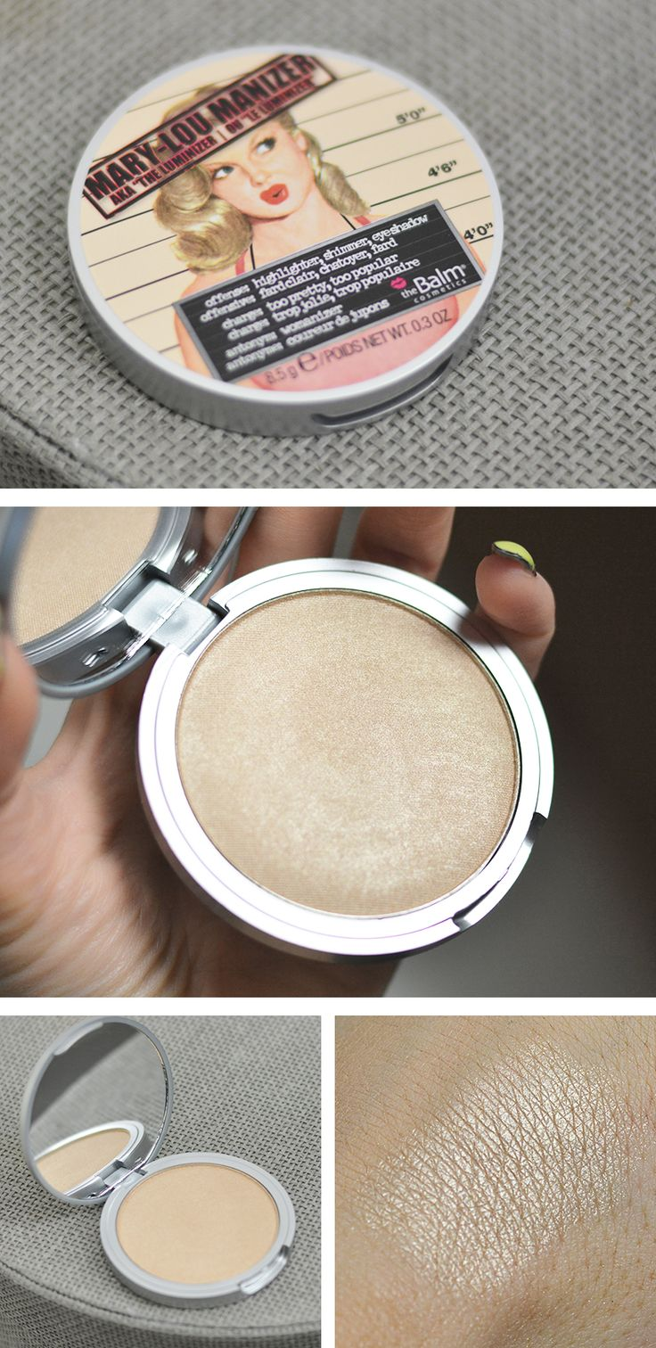 The Balm Cosmetics Mary-Lou Manizer.  I want this highlighter so bad! Jacqueline Hill says this is one of her go to luminizers when freelancing.