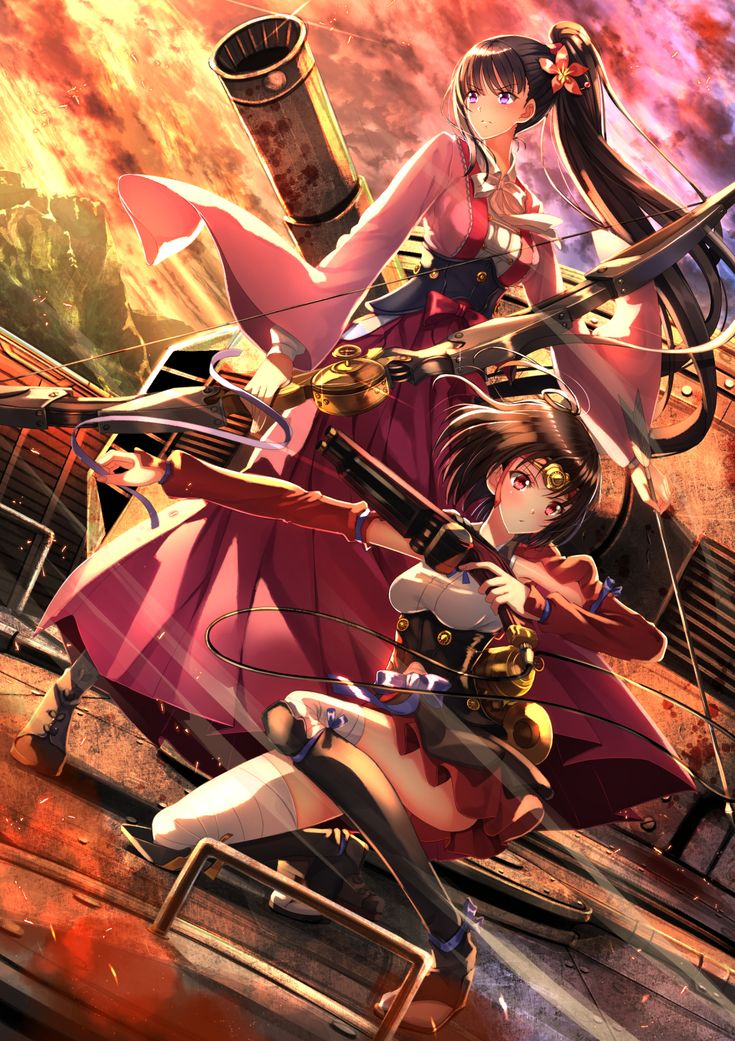 Kabaneri of the Iron Fortress   Mumei and Ayame
