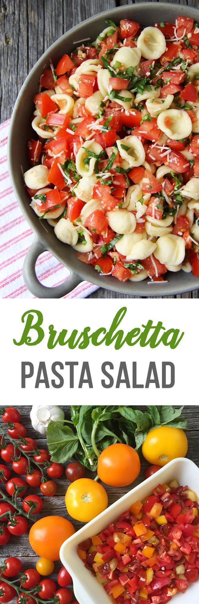 Lunch | Salade de pâtes bruschetta