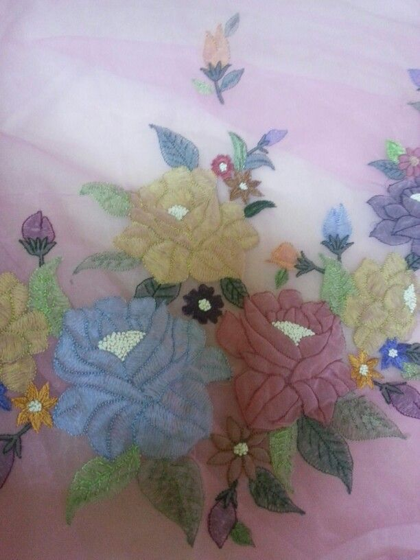 My shadow embroidery saree