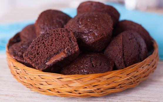 Muffins σοκολάτας με Νουτέλα