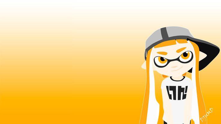 Splatoon - Inkling girl orange wallpaper by DJUMD.deviantart.com on @DeviantArt