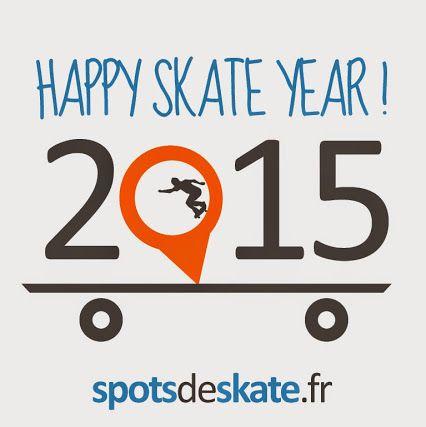 L'équipe spotsdeskate.fr vous souhaite une bonne année 2015 pleine de skate et de spots !