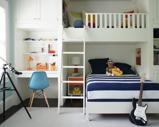 Дизайн детской комнаты для двух мальчиков - 30 фотоидей— iHouzz.ru