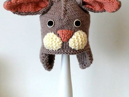 knitted Bunny hat 3 - 8 years