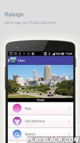 Raleigh Map Offline  Android App - playslack.com ,  Raleigh (United States) Map offline - is an application that allows you to view online and offline Raleigh map in yourmobile phone. 2 types of maps are attached in application: 1st map: Offline map. You can download it in Wi-fi service area and use without Internet.2nd Map: Online map. Allows you to search for addresses, save points on the map. Map access is free of charge.Application functions are available: 1. Add any objects to your…