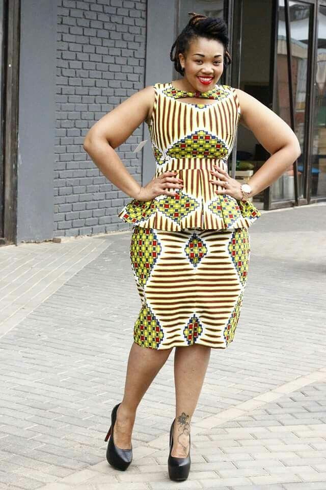 Peplum Bow Afrika Pinterest Mode Africaine Robe