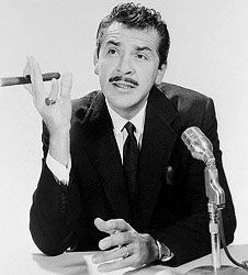 Ernie Kovacs (1919 - 1962) Born Ernest Edward Kovacs was an American comedian whose uninhibited, often ad-libbed, and visually experimental comic style came to influence numerous television comedy programs for years after his death in an automobile accident. Born in Trenton, NJ