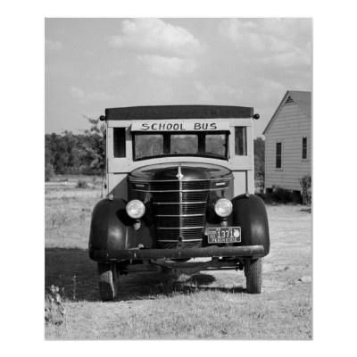 Antique School Bus, Greensboro, Georgia, 1941  by Photoblog