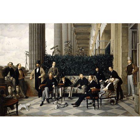 Reprodukcje obrazów James Tissot The Circle of the Rue Royale - Fedkolor