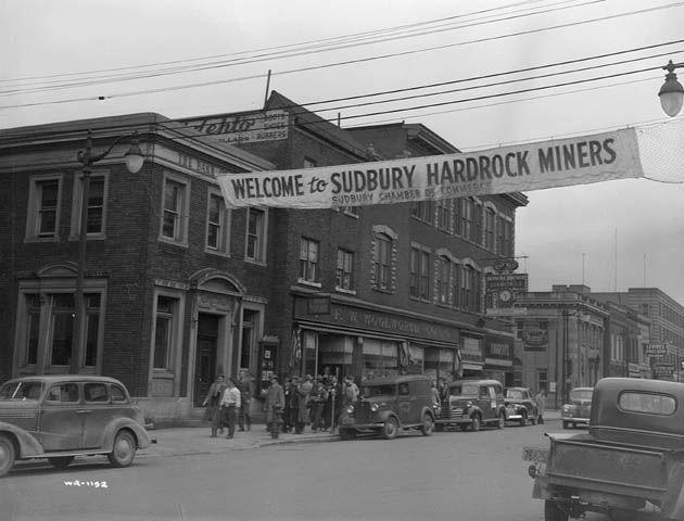 Sudbury, Ontario circa 1942... something about mining towns. :)
